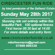 Cirencester Fun Ride Sunday 28th May 2017
